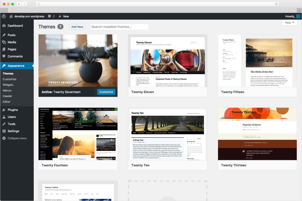 Wordpress šablony