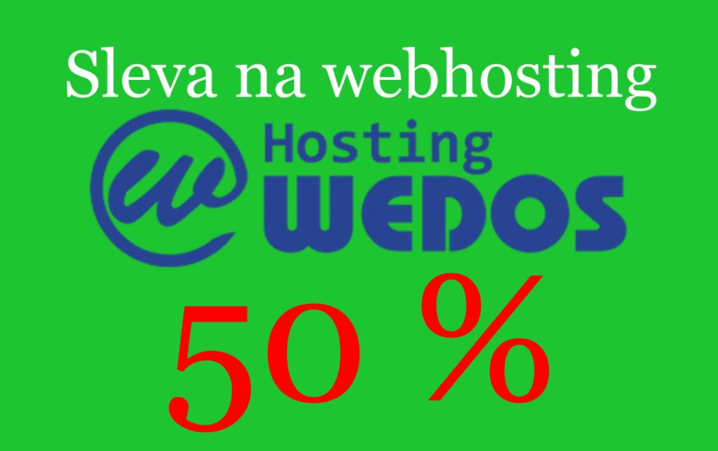 sleva na web hosting 50 %