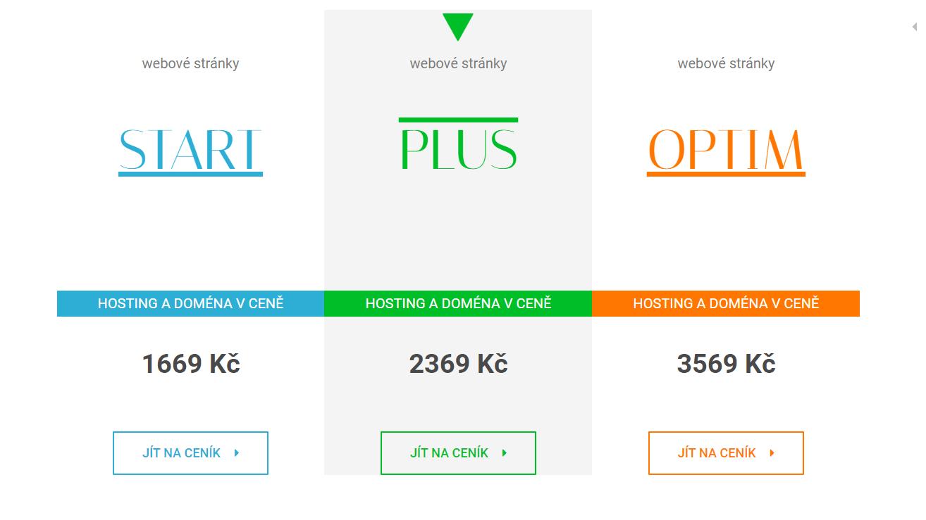 webová stránka o ceně